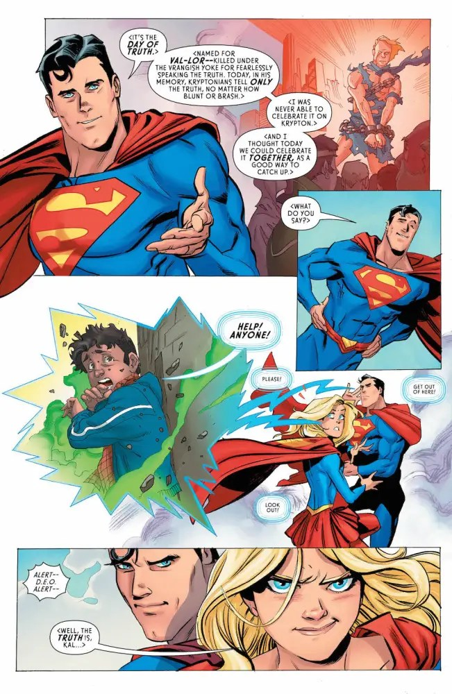 Superman and Supergirl in Supergirl #8