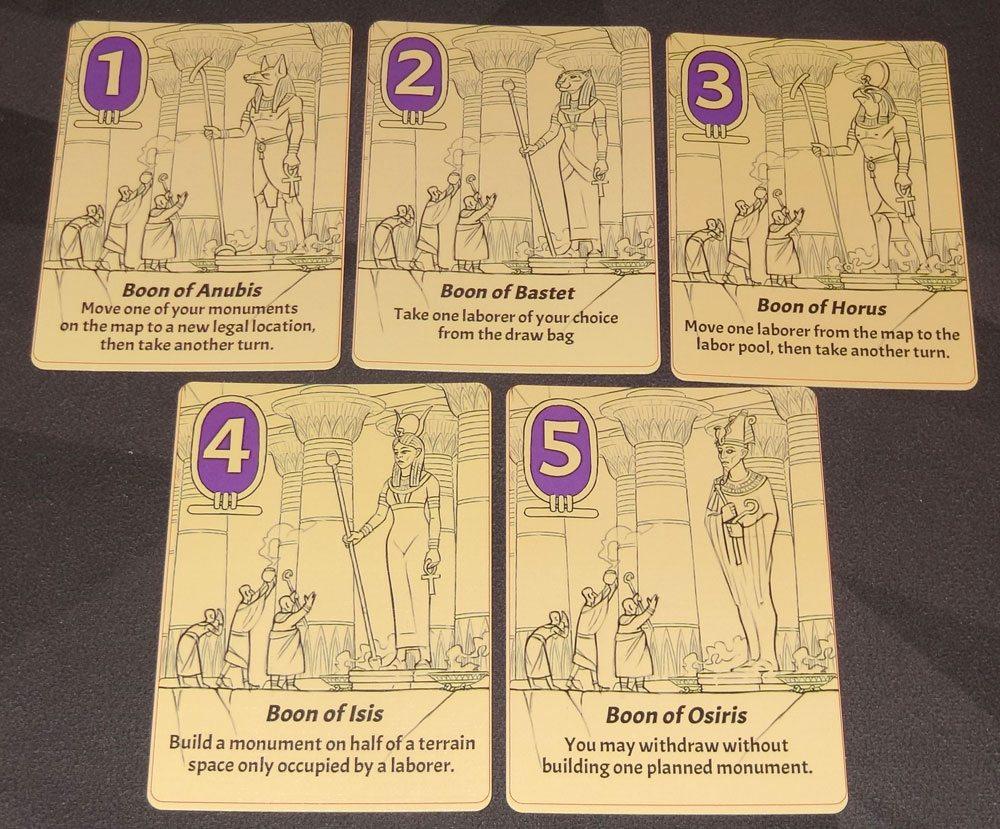 Sailing Toward Osiris boon cards