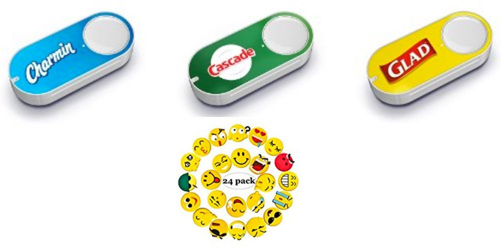 Get Dash Buttons for $2 (And Get $5 Back); Or Express Yourself With Emoji Fridge Magnets  – Daily Deals!