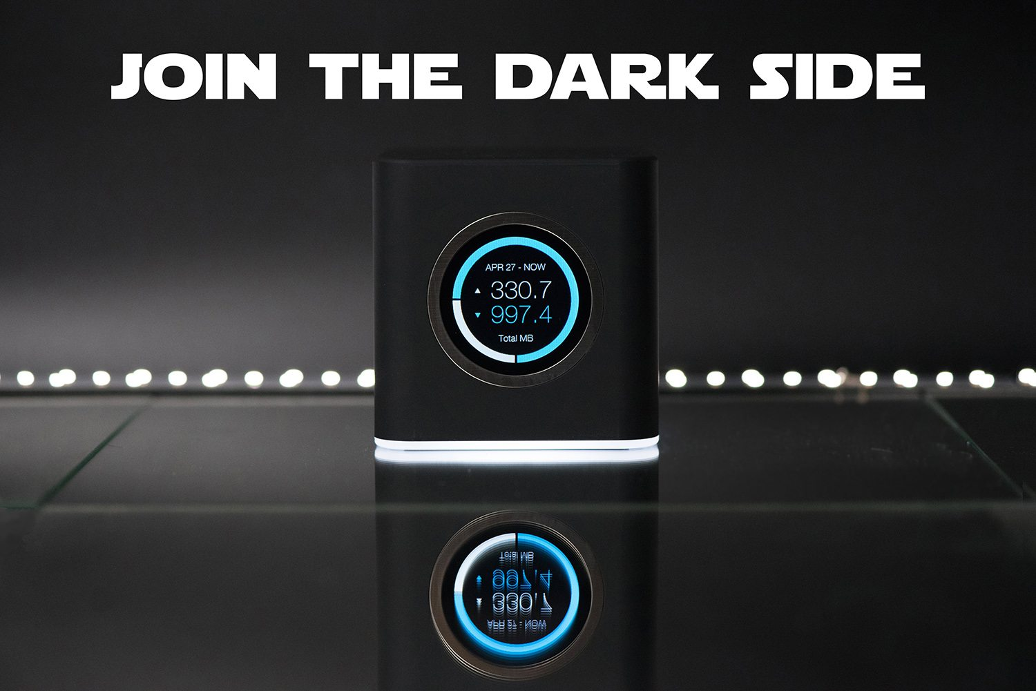 Special edition AmpliFi mesh router in black for Star Wars Day