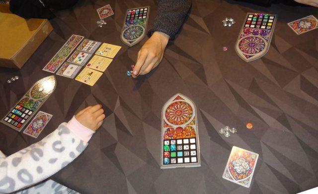 Sagrada game in progress
