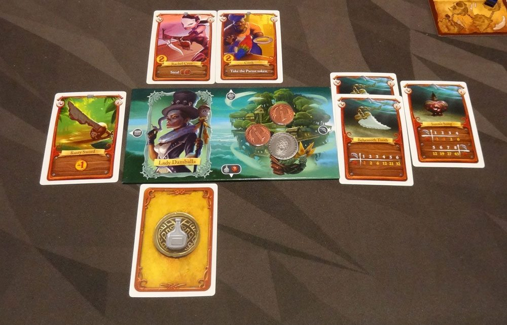 Sea of Clouds - player board with cards