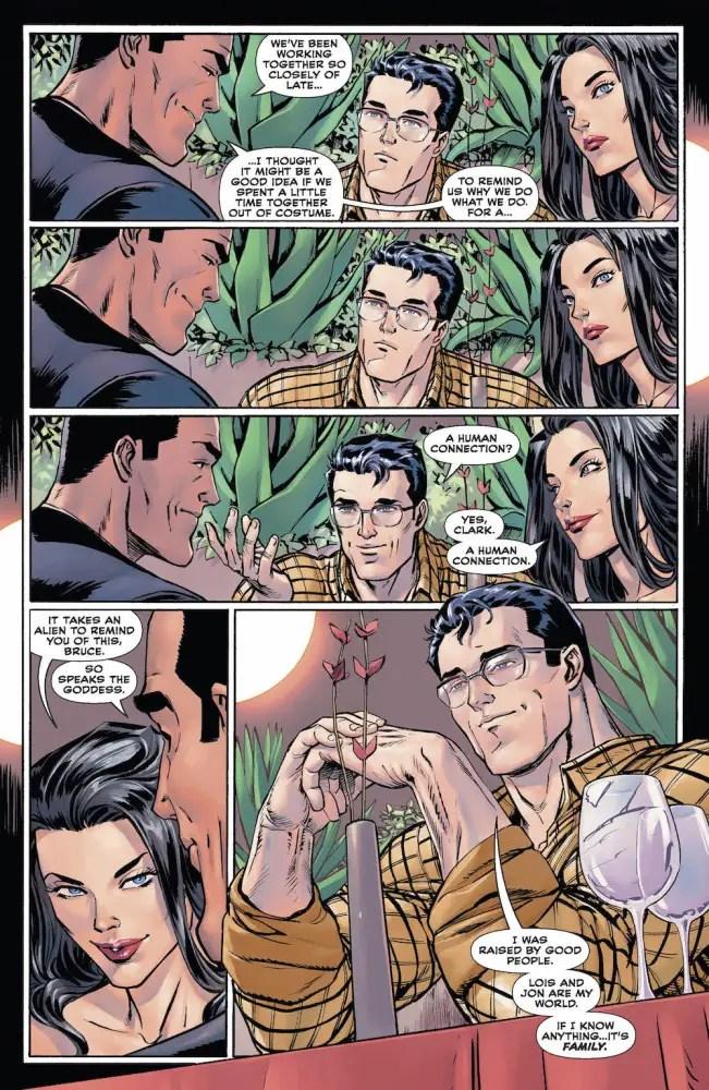 Clark Kent, Bruce Wayne, Diana in Trinity Annual #7, 2017