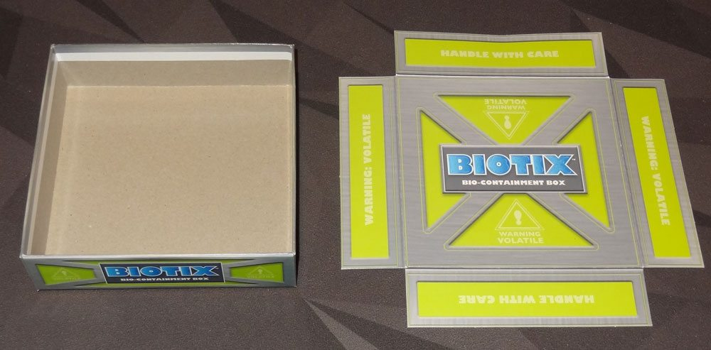 BIOTIX box insert unfolded