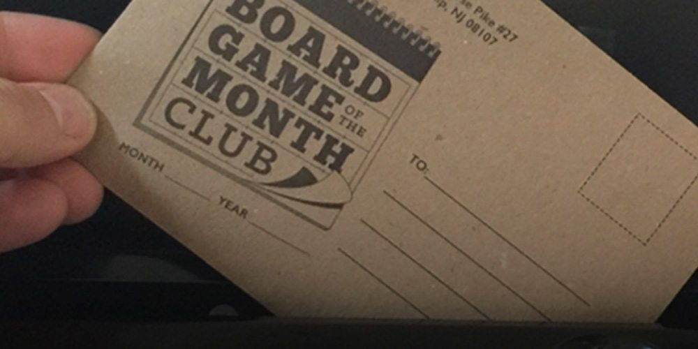 Button Shy's Board Game of the Month Club