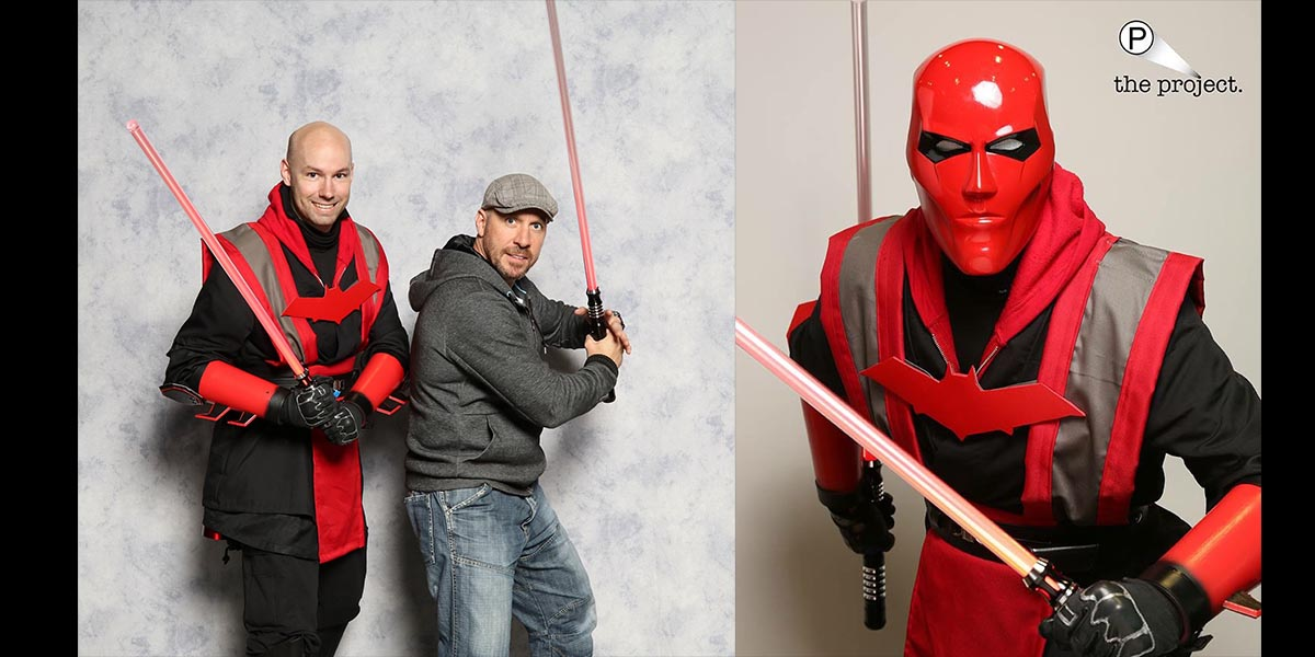 Check out Instagramer DougK1987 and his custom Red Hood Sith Cosplay.  Images MegaCon