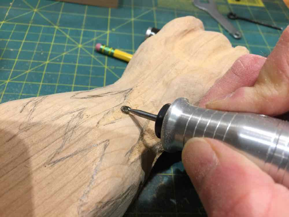 Carving a claw
