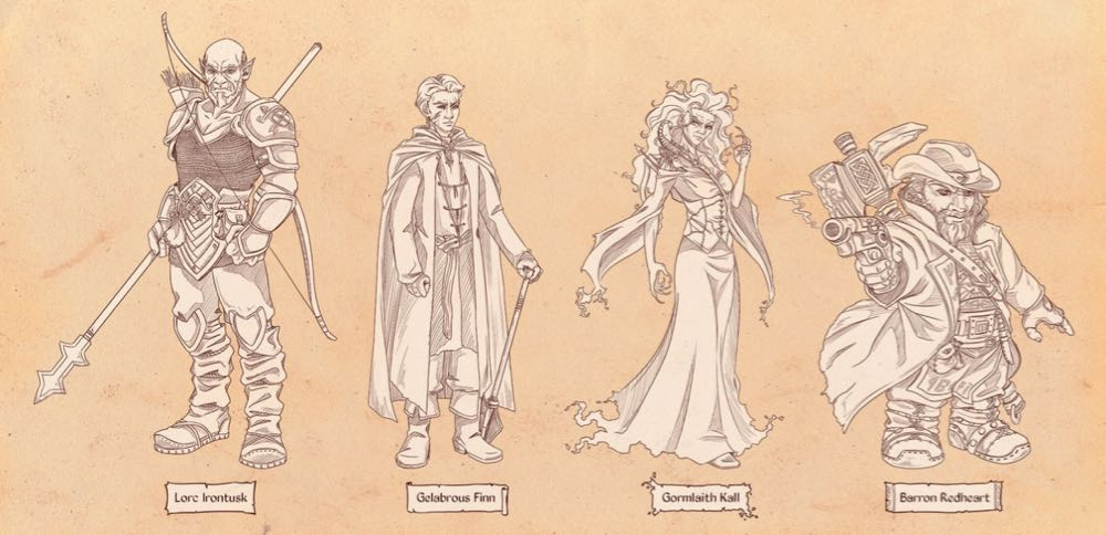 Fan art of the characters.
