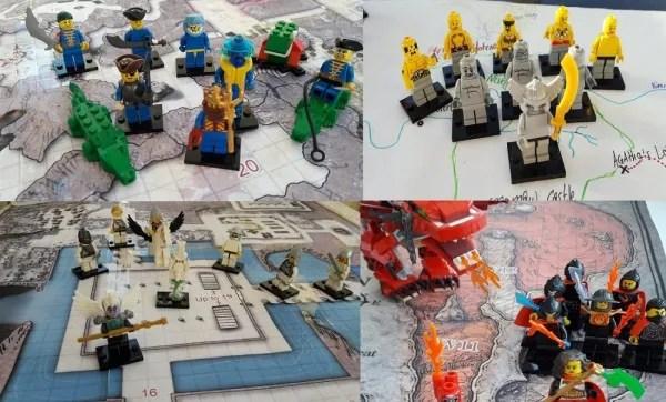 LEGO D&D elemental cultists
