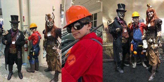 The family that cosplays together, stays together.  Image: Dakster Sullivan