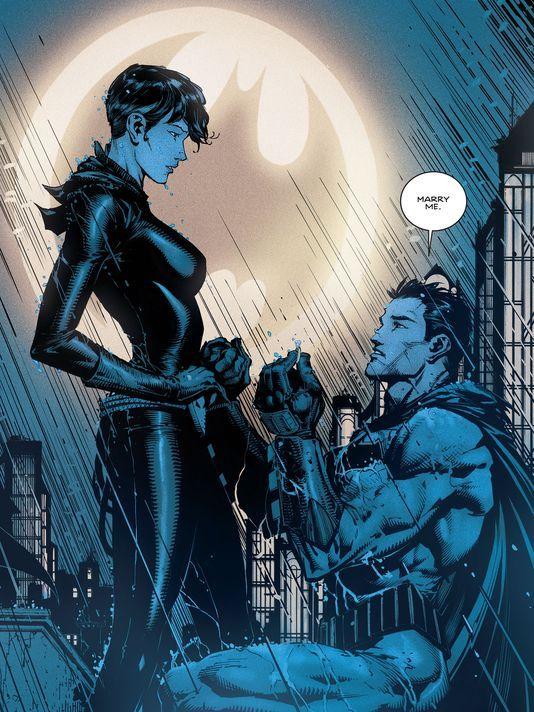Bat Cat Proposal Selina Kyle Bruce Wayne