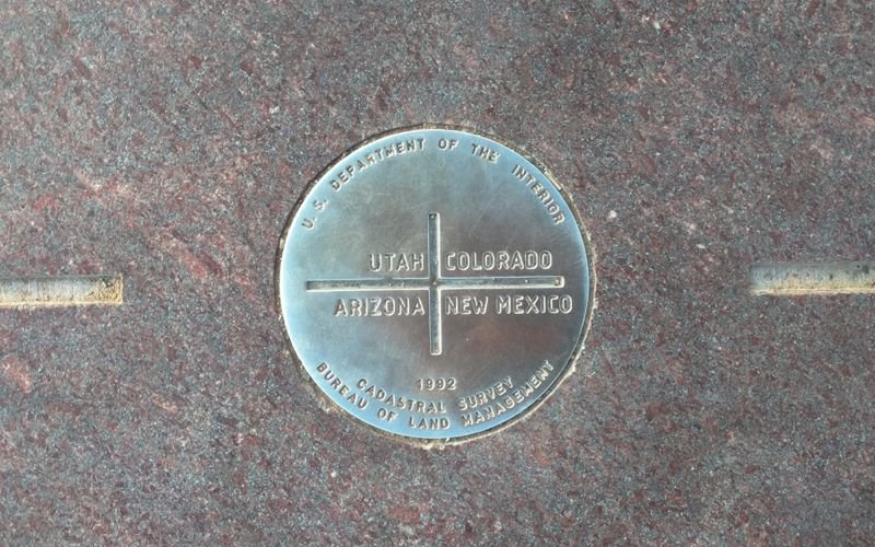 Central disc at Four Corners Monument