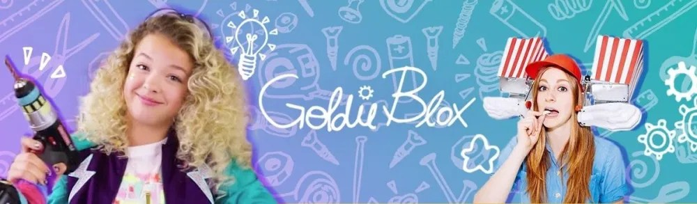 GoldieBlox YouTube channels banner