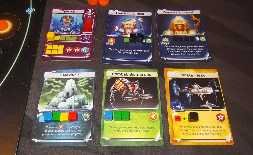 Master of the Galaxy card tableau