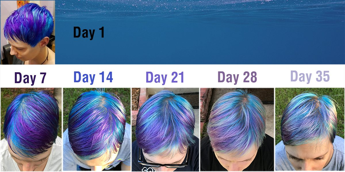 Thanks to using the right products, my mermaid hair has held strong. Image: Dakster Sullivan