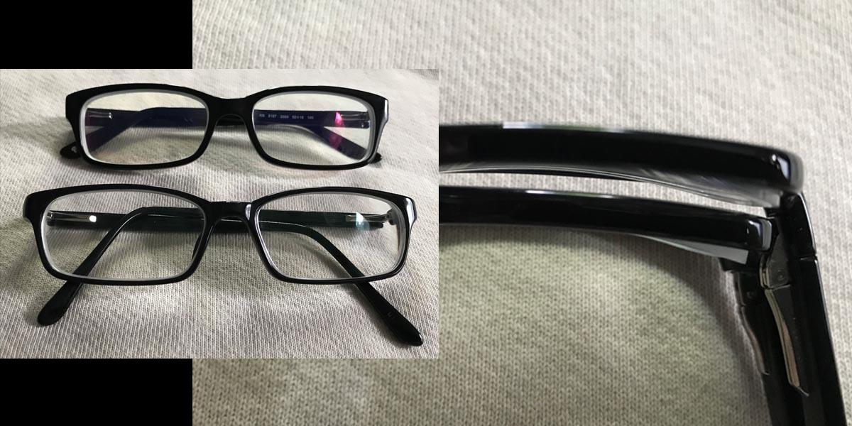 The contenders. My last year Visionworks vs new GlassesUSA  Image: Dakster Sullivan