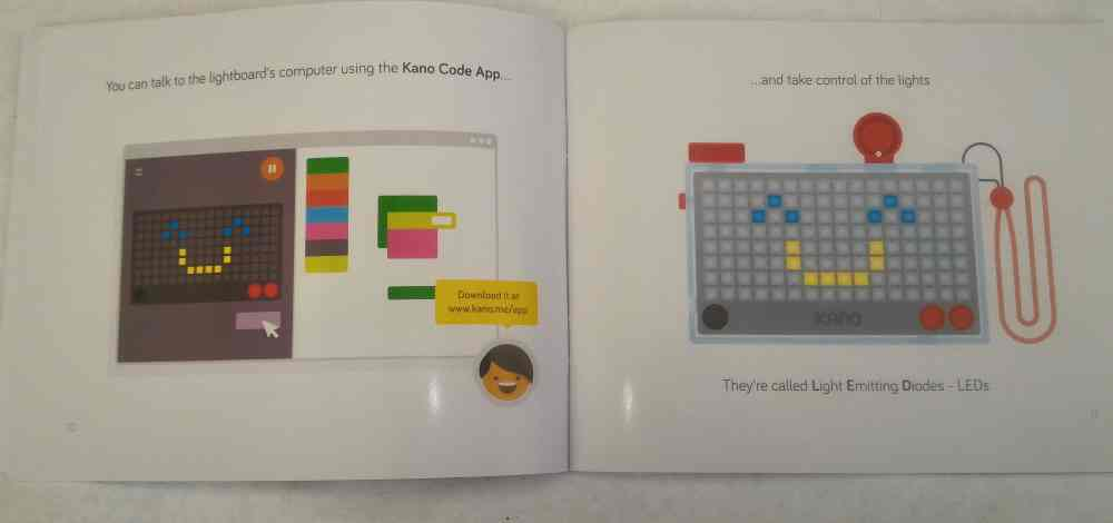 Pages from Kano's Pixel Kit manual