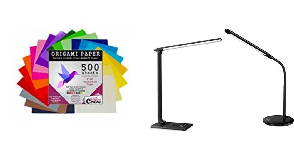 Geek Daily Deals origami paper LED desk lamps