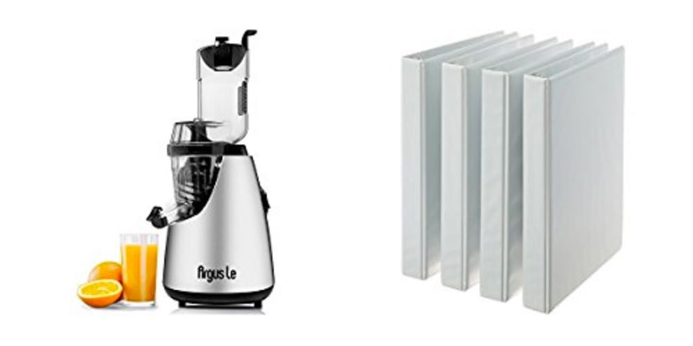 Geek Daily Deals for August 7, 2017: Slow Juicer for 60% Off; 4 x 1″Binders for $8