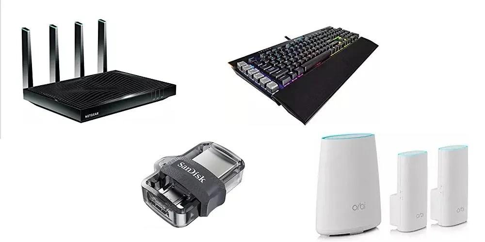 Geek Daily Deals 081417 router usb keyboard