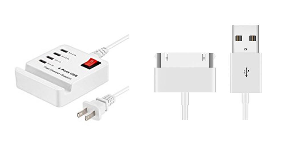 Geek Daily Deals Aug. 20, 2017: USB Multi-Port Charger for $10; 30-Pin Cables for iPhone/iPad for $7