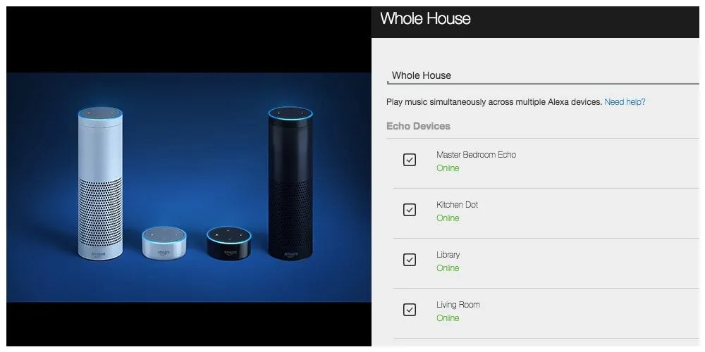 Amazon Echos and Whole House Audio