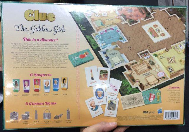 Golden Girls Clue box back
