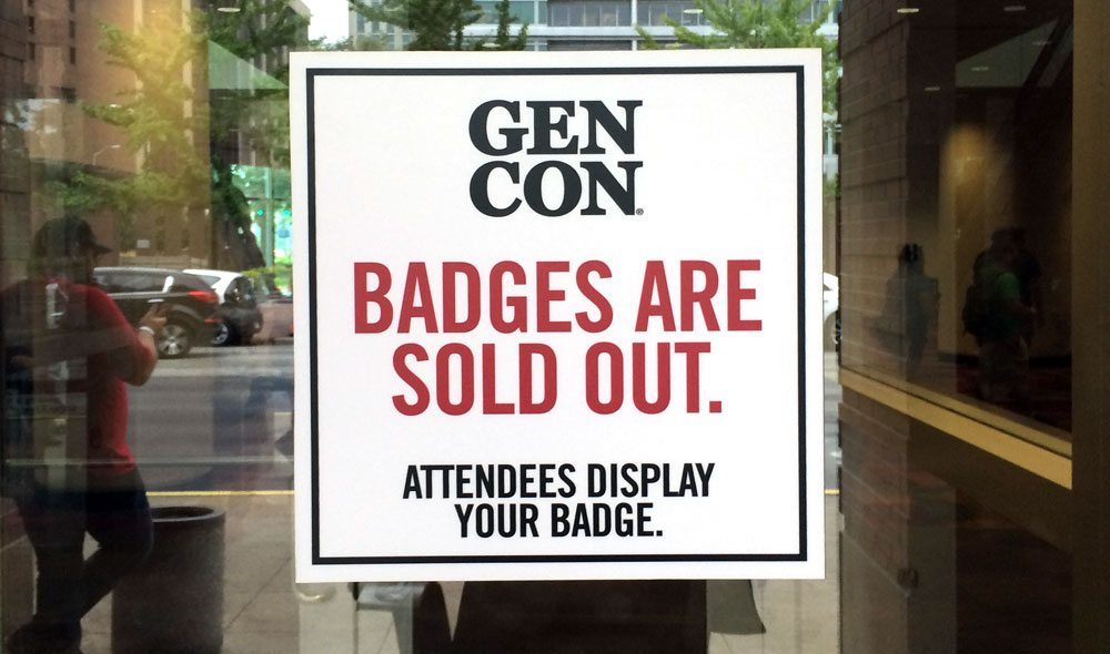 Gen Con Sold Out