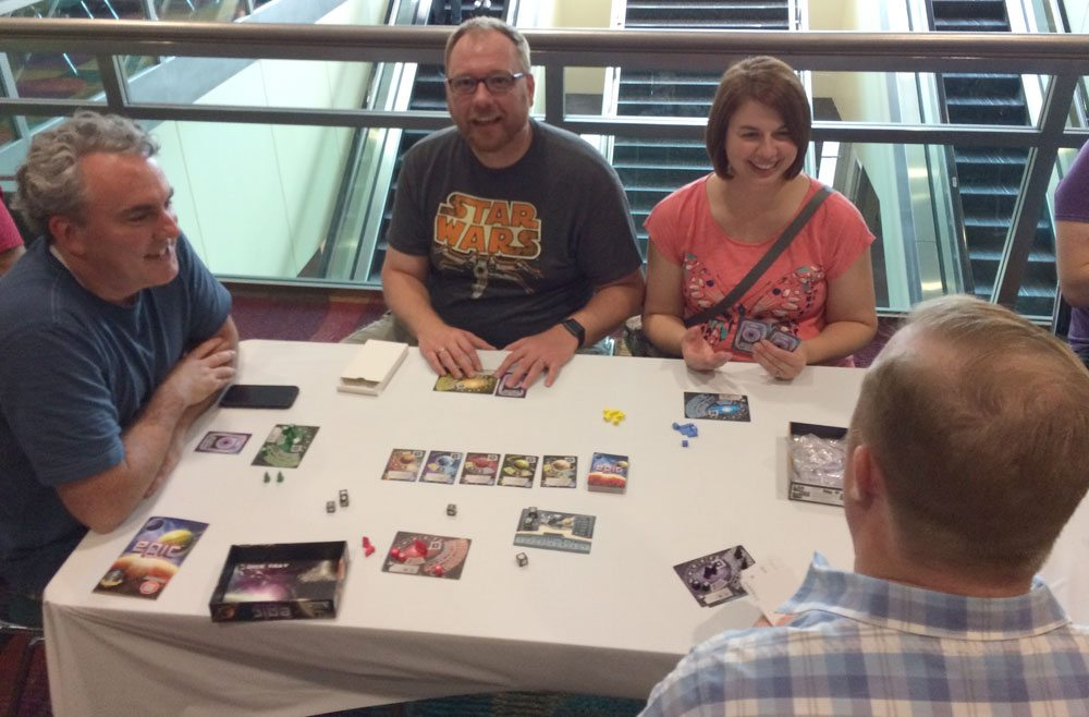 Tiny Epic Galaxies at Gen Con