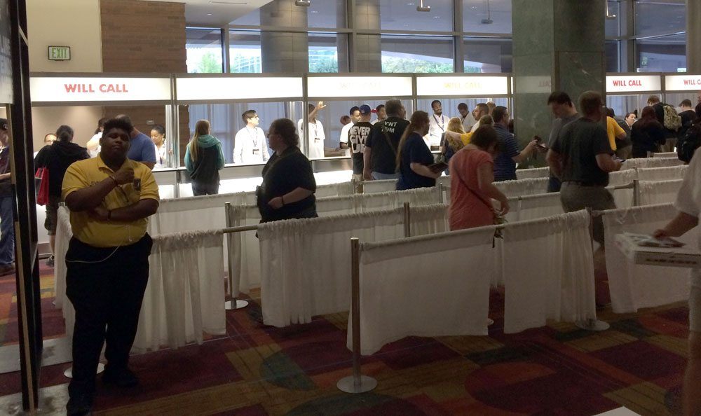 Gen Con Will Call line