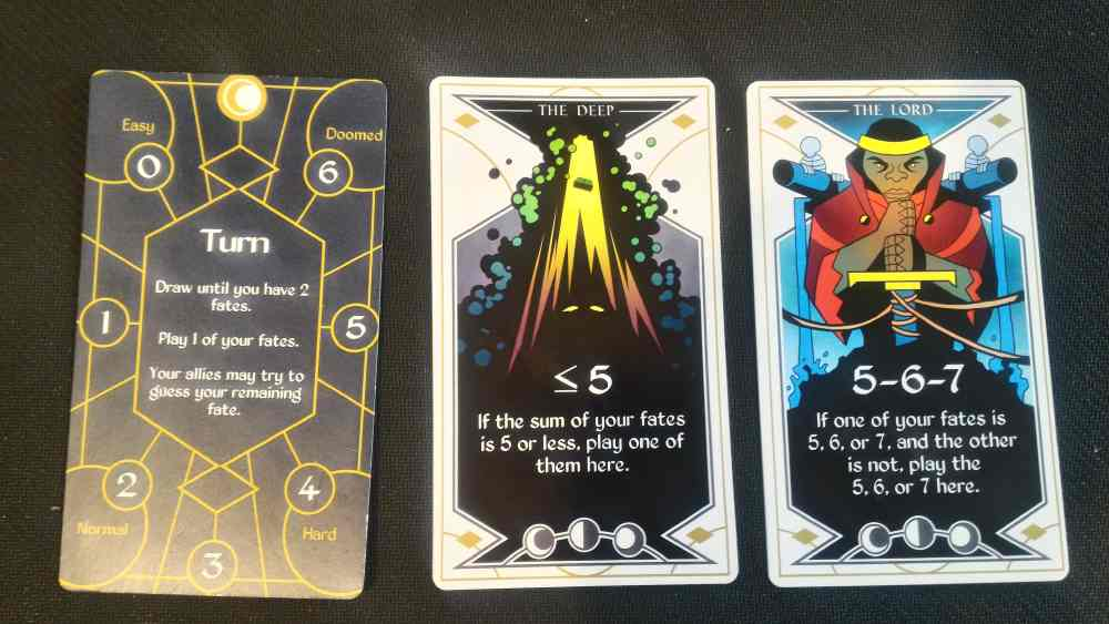 Arcana Cards Face up