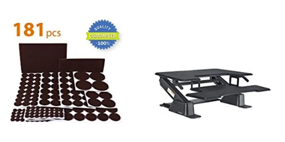 Geek Daily Deals furniture pads standing desk