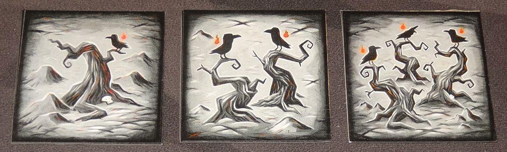 Tyler Sigman's Crows crow tiles