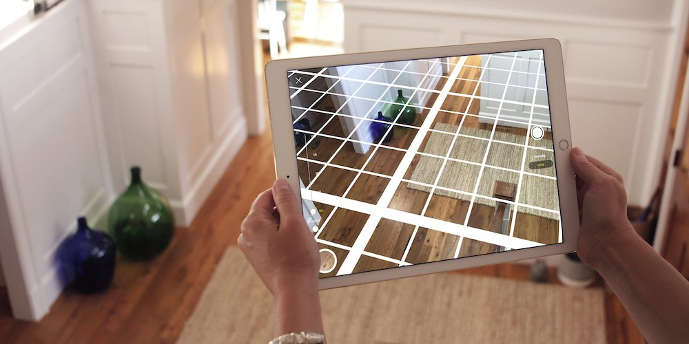 Perspective Finder in Morpholio's Trace app adds grid in virtual reality.
