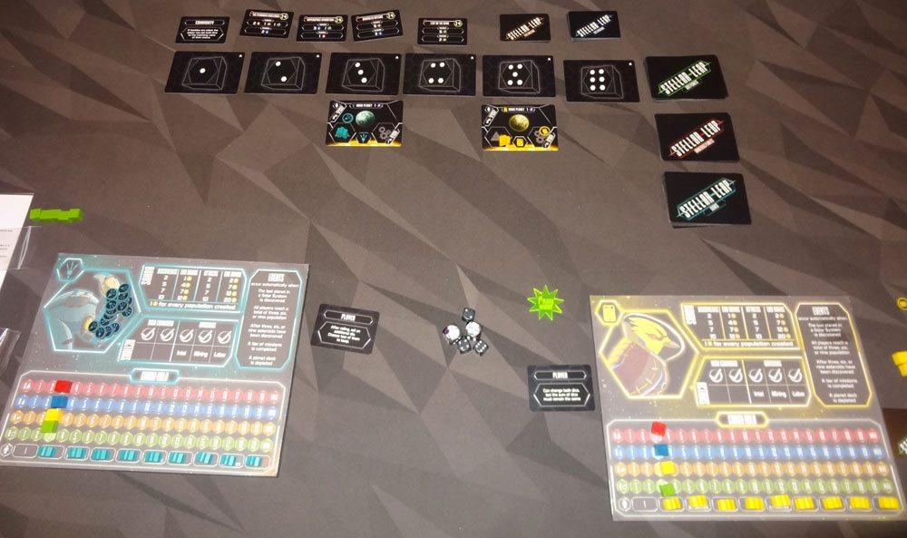 Stellar Leap 2-player setup