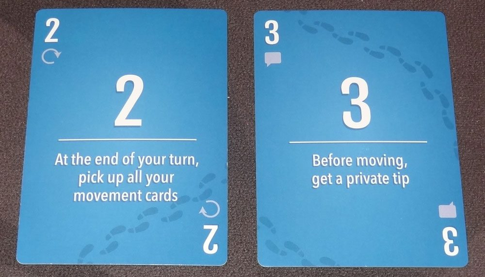 Stop Thief! movement cards