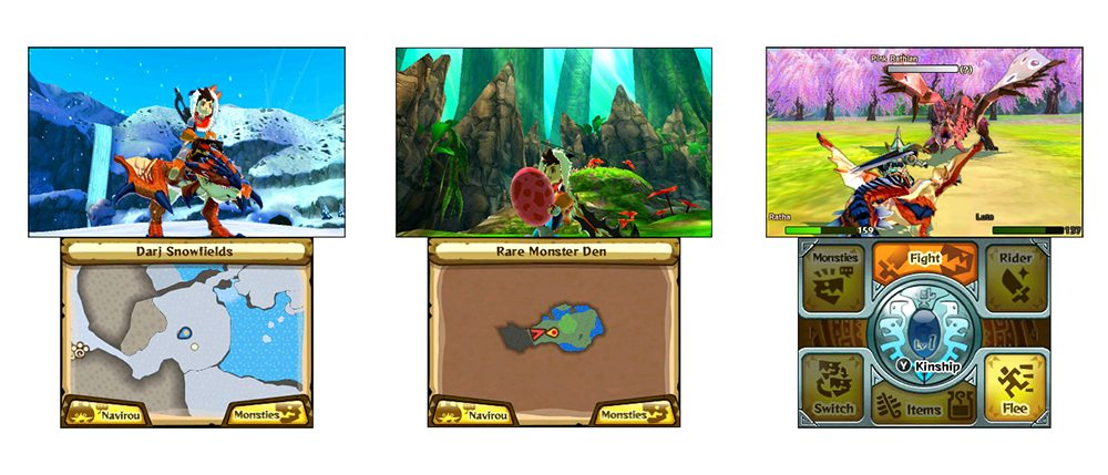 monster hunter stories screens