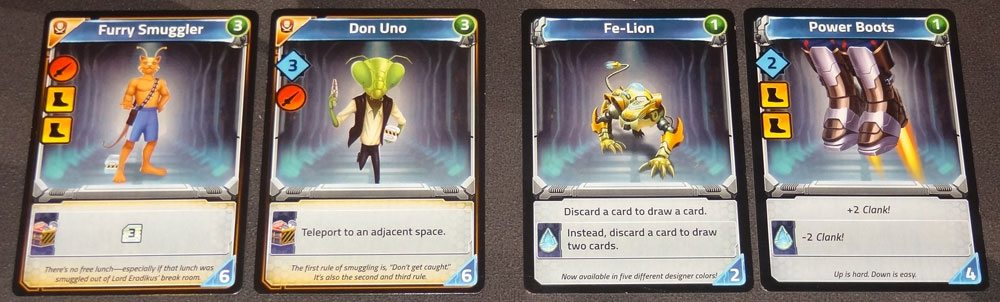 Clank! In! Space! contraband and power crystal cards