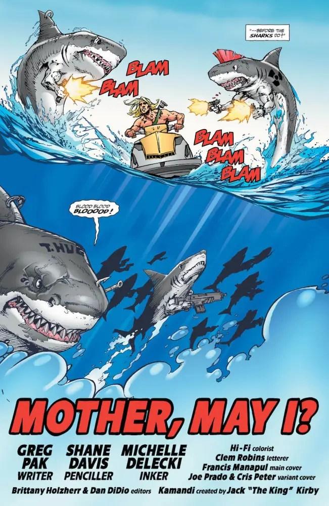 Kamandi Challenge #10, Sharks