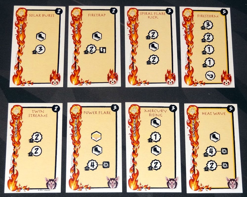 Legend of Korra: Pro-bending Arena fire cards