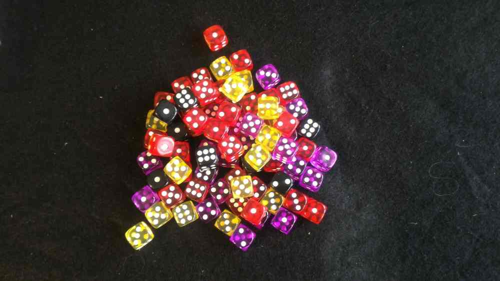 Monster lands dice