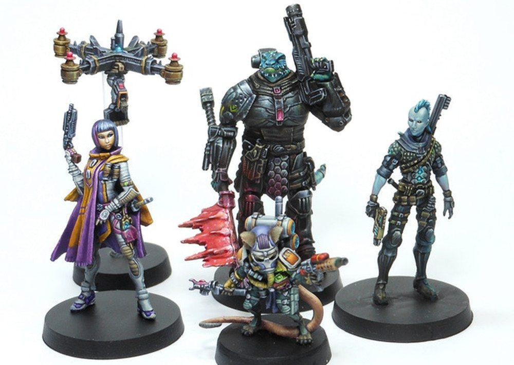 Ninja Division Starfinder Miniatures - Sample Paints