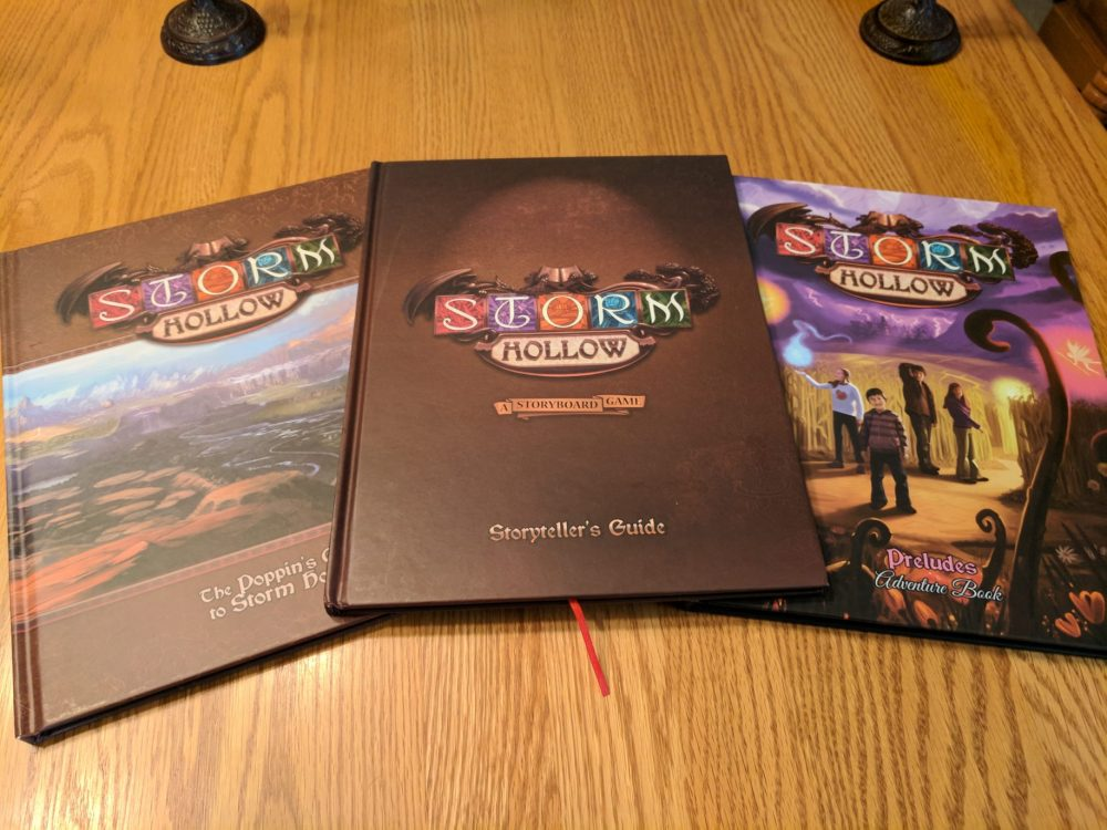 Storm Hollow Preludes Books. Storyteller's Guide, Poppin's Guide to Storm Hollow, and Preludes Adventure Book