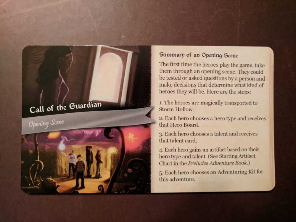 Storm Hollow Preludes Opening Scene Card