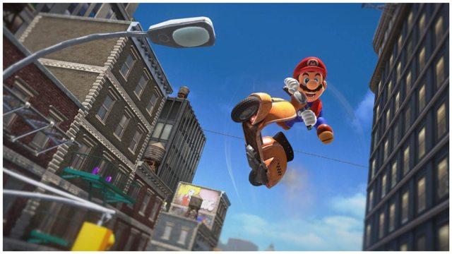 Super Mario Odyssey Mario scooter jump