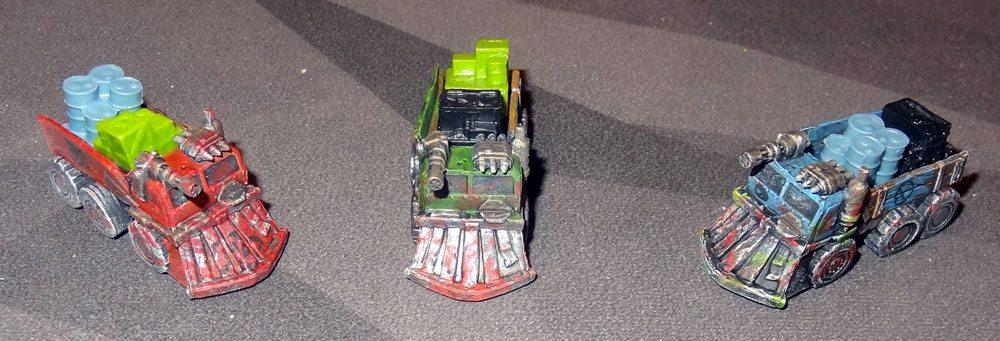Wasteland Express raider trucks