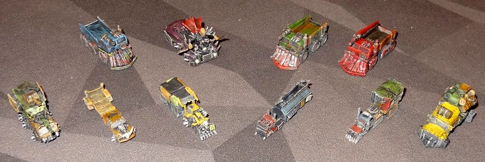 Wasteland Express vehicles