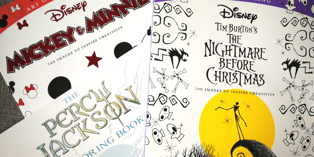 Relax With Disney's Art of Coloring Books