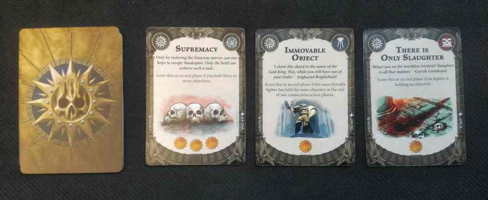 Shadespire Objective Cards