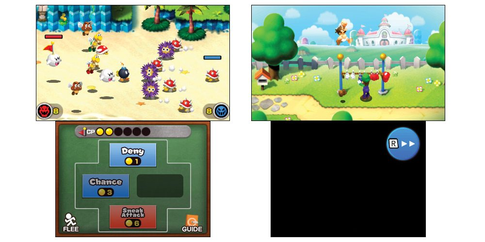 Mario & Luigi Superstars + Bowser's Minions screens